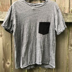 H&M Gray Pocketed Boyfriend Shirt
